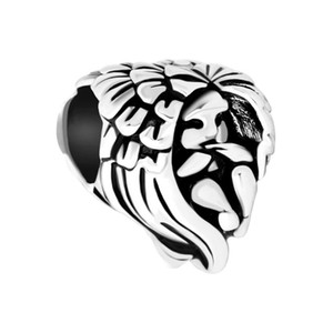 Ladies jewelry love wing angel baby girls Wholsael 10pcs European bead big hole charms bracelets necklace for Pandora