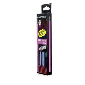 무료 배송 12 색 Pretty 메탈릭 컬러 블랙 우드 컬러 연필 어린이 낙서 유채로 채우기 색연필