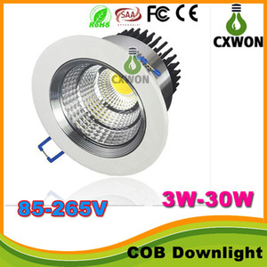 Recessed led ceiling down lights For Cree cob downlight dimmable downlights 5w 7w 9w 12w 15w 24w adjustable angle LED spot light