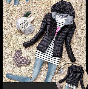 Abrigos de otoño invierno para la Sra. Candy, de color, de manga gruesa, para mujer, de largo, de párrafo, con capucha, con una fina ropa acolchada de algodón, chaqueta acolchada de algodón