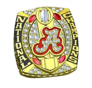 anelli all'ingrosso All'ingrosso 2015 Alabama Crimson Tide National Custom Sports Championship Ring Con anelli di campionato di scatole di lusso