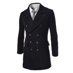 Herbst-Jeansian New Herrenmode einfache Taste Dekoration lange Jacke Mantel 3 Farben 4 Größen 9088