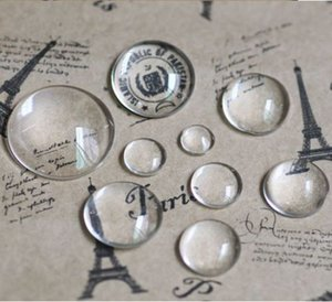100pcs 둥근 투명 유리 투명한 카보 숑 Cameo 설정 유리 커버 12mm