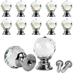 10pcs beauté cristal verre porte tiroir armoire penderie tirez la poignée boutons E00043 BAR