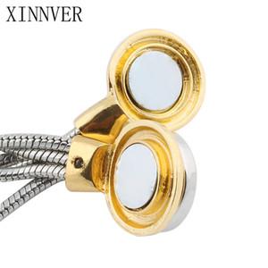 Snap Jewelry 18mm Snap Button Bracelet &Bangles Vintage Silver Snap Bracelet Magnet Charm Bracelet For Women Hot Sale
