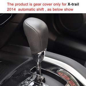 Чехол для Nissan X-Trail 2014 автоматическая ручка переключения передач крышка ручной сшитые натуральная кожа DIY gear обложки кожаные аксессуары