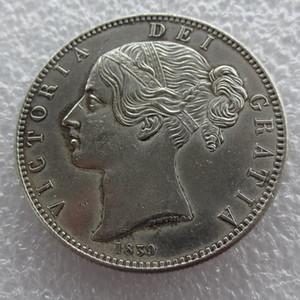 Серебряная Корона Монета Королевы Виктории Янг 1839 года - Великобритания Копировать монеты