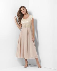 Шампанское чай длина длинные скромные платья невесты с рукавами кружева шифон случайные свадебные платья матери невесты горничные платья