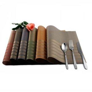 JANKNG 4 Teile / los Luxus Tischsets Tischset 6 Farben Dekoration PVC Küchentisch Matten Dinning Klar Tabelle Pads Kleidung