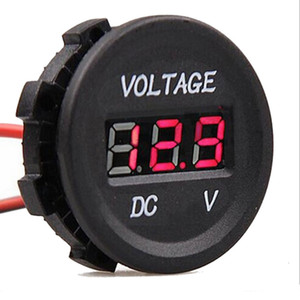 Per la luce LED rosso del voltmetro 12V da auto universale del motociclo professionale Gauge impermeabile LED display digitale misurare la tensione 6V-30V