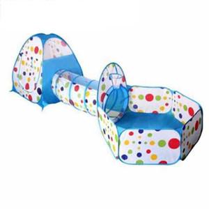 FlyingTown 3 in 1 Tenda per bambini Pipeline Crawling Huge Game Yard Ball Pool lodge MODA Tende giocattolo