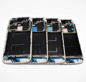 Piezas nuevas originales LCD frontal del bisel marco de la cubierta de la cubierta de la placa frontal para Samsung Galaxy S4 GT-i9500 i9505 I337 i9506 plata negro envío gratis