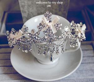 Shining Beaded Wedding Crowns Bridal Velo di cristallo Tiara Crown Accessori per capelli Fascia per capelli Tiara di nozze Hot