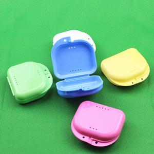 Compacto Colorido Dental Ortodôntico Retentor Caixa / Caso Mouthguards Dentes Falsos Dentaduras Esporte Guarda De Armazenamento Caixa ZA4343