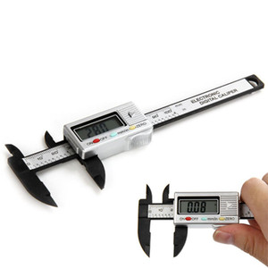 LCD mayor-100mm Electrónico Digital Caliper Caliper fibra de carbono impermeable Digitale Messschieber Paquimetro Digital Pie de rey