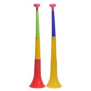 Random Color musical instruments Removable Football Stadium cheer Horns European Cup Vuvuzela Cheerleading horn Kid Trumpet Toy