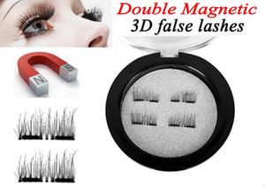 3D Double Cils Magnétiques Beauté Naturelle Sans Colle Réutilisables Faux Cils Extension Main Oeil Beauté Outil de Maquillage