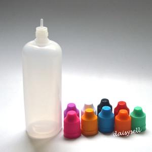 Flacons compte-gouttes en plastique LDPE 120ml avec capuchon de bouteille et preuve d'aiguille pour enfant