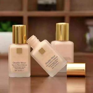 Qualidade superior Double Wear Liquid Foundation Fique no lugar Maquiagem 30ml Nude Almofada Vara Radiante Maquiagem Foundation 14ml