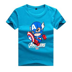 NUOVO 2017 Estate Bambini Sport Preppy Style T-shirt a maniche corte Flevans Captain America Stampa ragazzi T-Shirt Estate manica corta O-Collo Tshirt