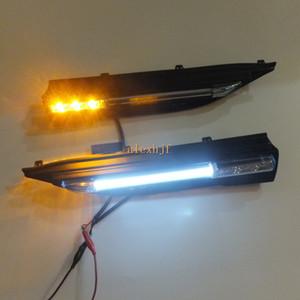 يوليو King Car Fender LED Light Guide الأنوار الجانبية DRL + ضوء أصفر بدوره إشارات الجانب لاند روفر رينج روفر إيفوك 2013 ~ ON