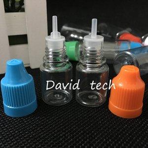 E-Liquid Yüksek Kaliteli 1000pcs 5ml PET Temizle Plastik Damlalık Şişe, Uzun İnce İpucu DHL Kargo ile 5ml Renk Seç Şişeler