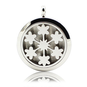 Aromatherapy Essential Oil Diffuser Necklace Fireworks 316L Stainless Steel Locket Pendant with Ajustable Chain 6 Refill Pads