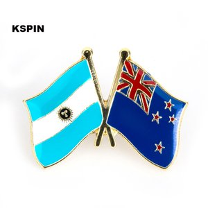 Bandera de la amistad de Argentina Nueva Zelanda Flag Flag 10PCS