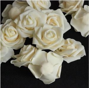 6-7cm Fiore di seta artificiale di camelia rosa falso testa di fiore di peonia per la decorazione domestica decorazioni floreali per la festa di nozze