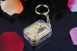 Free shipping Mini Gilded Keychain pendant Music Box Creative Gifts birthday present Castle in the Sky