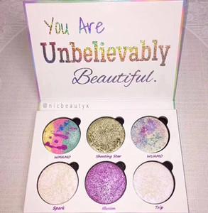 Любовь Люкс красоты фантазия палитра макияж Вы невероятно красивый маркер 6 цветов тени для век горячие продать