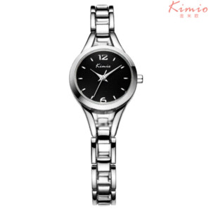 2016 New Womens Watches Top Brand KIMIO Simple Casual Small Round Dial Quartz Rose Gold Ladies Bracelet Watch Women Waches Women