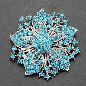 Yapay elmas elmas Çiçek Erguvan Broş iğneler Korsaj Eşarp Klipler Kadınlar Erkekler Gümüş Altın iğneler Düğün takı 170.663