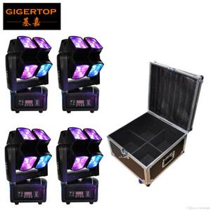 Китай Gigertop Flightcase 4in1 Pack 8x10 Вт 90 Вт CREE BEAM Светодиодный Движущийся Головной свет Небольшой Размер Низкая Цена ЖК-Дисплей 3 PIN XLR Гнездо AC100V-220V