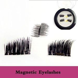 Adedi 3Boxes 3D Manyetik Yanlış Eyelashes Yumuşak düşünün Siyah Yeni Mıknatıs Sahte Manyetik Kirpikleri Dropship tam el yapımı handtied kirpikler