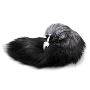 Plug Stainless Steel Faux Fox Tail Stopper Gift Valentine's Day Gift Surprise adult toys