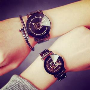 Marca de moda Correa de Acero Relojes Unisex Hombres Reloj de Cuarzo Vestido de Las Mujeres Deporte Militar Relojes Ginebra Reloj de pulsera relogio masculino