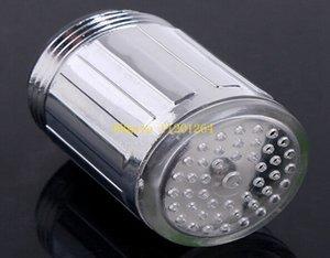 300pcs / lot Commercio all'ingrosso libero di trasporto facile installare LED luce del rubinetto dell'acqua 7 colori che cambiano colpetto di flusso della doccia di incandescenza
