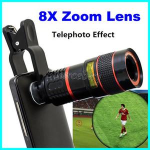 Mais recente Telescópio Do Telefone Móvel Universal 8X Zoom Lente com clipe de Ampliação Lente Da Câmera Telefoto Óptico Para iPhone Samsung HTC Smartphone