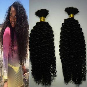 아프리카 변태 대량 머리 200 그램 몽골어 곱슬 곱슬 대량 머리 씨실 인간의 머리 대량 끈