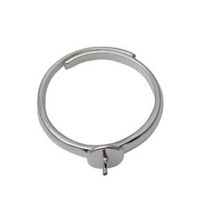 Beadsnice стерлингового серебра 925 перстни-кольца заготовки регулируемые кольца выводы для половины просверленные бусы ювелирные изделия ручной работы ID 34798