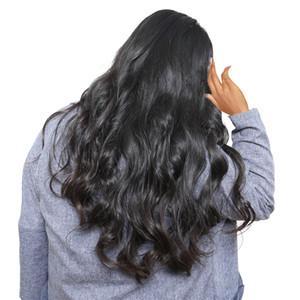 Körperwellen-Haar-Perücken Glueless Jungfrau-unverarbeitetes peruanisches Menschenhaar-natürliche schauende lange schwarze Körper-wellenförmige Spitze-Front-volle Perücken für Frauen