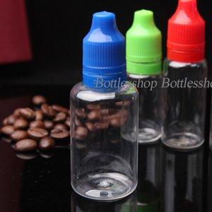 1500pcs PET E Liquid Dropper Bottle With Tamper Evident Seal Long Thin Tips Clear Plastic Needle Bottles 30ml
