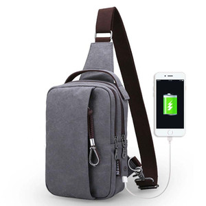 USB Design Chest Bag Men&Female Sling bag Wallet Gift Large Capacity Handbag Hot-Selling Crossbody Bag