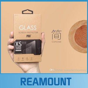100 adet Toptan Özel Perakende Kağıt Paketi ambalaj kutusu iphone 6 s ortak modeller için Temperli Sınıf Ekran Koruyucu