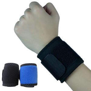 Bilek Brace Wrap Bandaj Desteği Spor Askı Ayarlanabilir Spor Bileklik Mavi Siyah F00122 SPDH