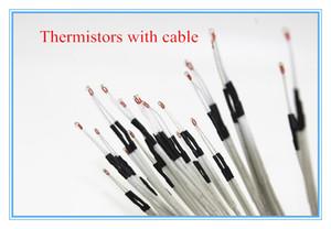 Freeshipping 3d imprimante pièces 100Pcs / lot 100K ohms NTC 3950 thermistances avec câble pour imprimante 3D Reprap Mend RAMPS 1.4 A4988 MK2B HEATBED