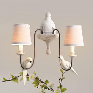 Nordamerikanischen retro Lampe Schlafzimmer Wohnzimmer Wandlampe Vogel kreative Persönlichkeit Mittelmeer pastoral Doppelwandlampe Nacht