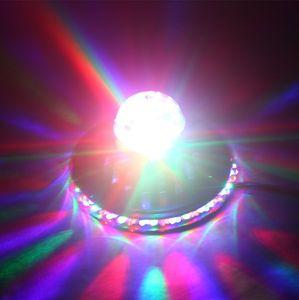 48LEDs 8W 회전 RGB LED 전구 색 변경 매직 해바라기 주도 효과 RGB 크리스탈 무대 조명 크리스마스 파티 디스코 크리스탈 매직 볼 빛
