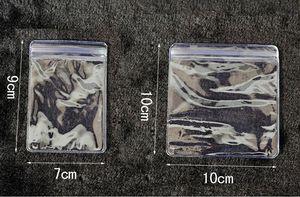 الأزياء 100 قطع 10 * 10 سنتيمتر واضح ziplock حقيبة تسوق 10x10 سنتيمتر البلاستيك والمجوهرات حقيبة صغيرة هدية الحقائب ل بوتيك شحن مجاني